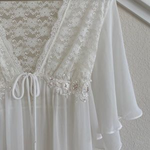Chiffon, Lace and Embellished Appliqué Robe